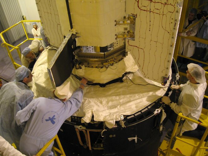 GOCE gently joins the Upper Stage