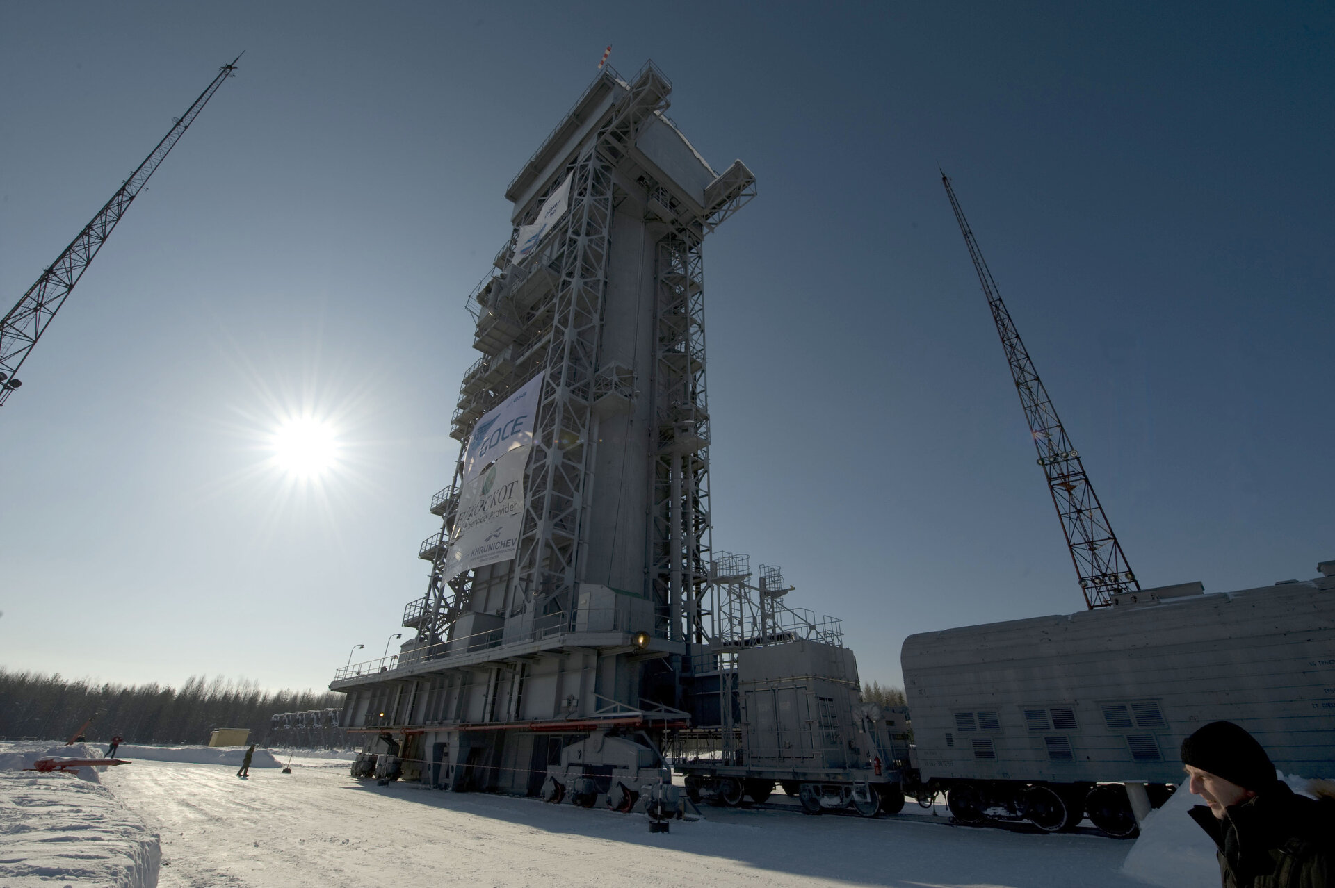 GOCE in the launch tower