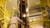 GOCE mated to the Breeze Upper Stage