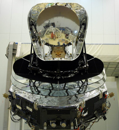 Herschel reflected in Planck mirror