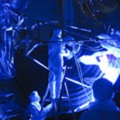 Herschel telescope final pre-flight inspection in ultraviolet li