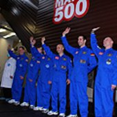 Mars500 crew prepares to enter facility