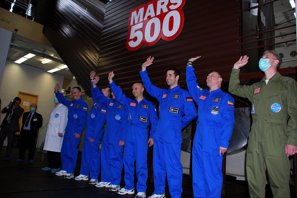 The crew of six started their 105-day mission on 31 March