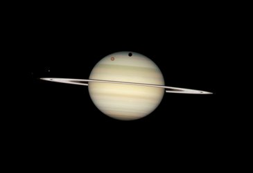 Moon transit at Saturn