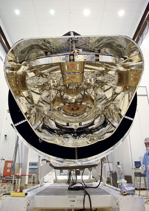 Planck in a cleanroom in Kourou