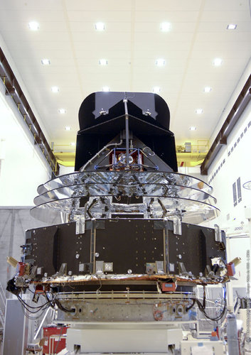Rear view of the spacecraft