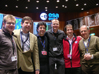 Smiling faces: GOCE team from industry and ESA at end of LEOP