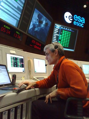 Spacecraft Operations Manager Juan Piñeiro in ESOC's Main Control Room