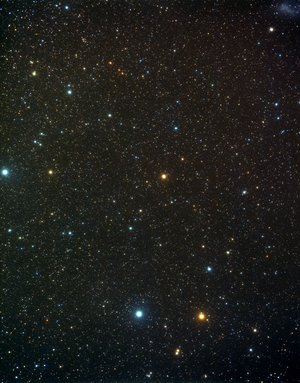 A wide-field view of the constellation of Indus