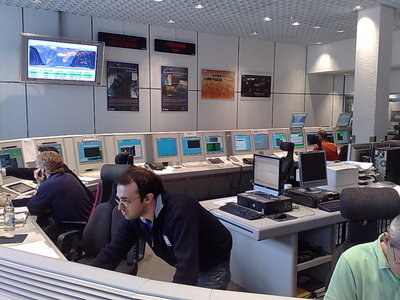 Combined EO mission control room at ESOC