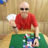 Cyrille winning at poker