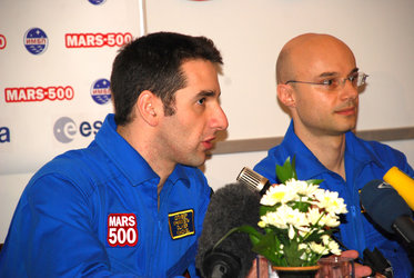 ESA-selected participants Oliver Knickel and Cyrille Fournier