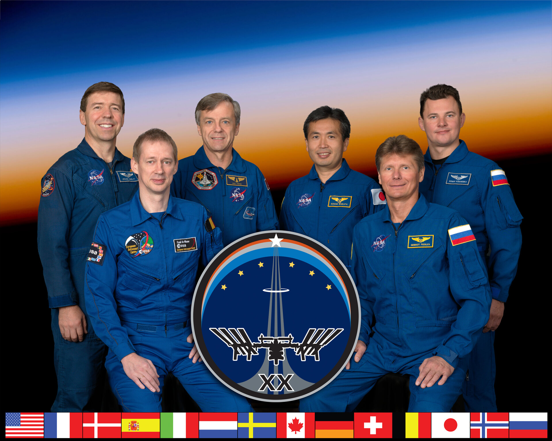 All six members of the Expedition 20 crew will participate in the crew news conference on 1 June