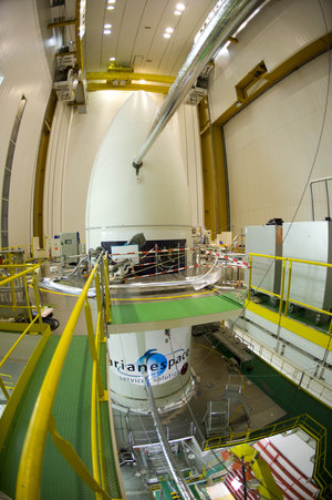 Ariane 5 carrying Herschel and Planck