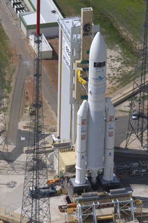 Ariane 5 enclosing Herschel and Planck