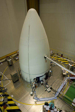 Ariane 5 fairing carrying Herschel and Planck