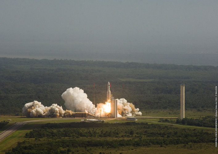 Ariane 5 lift off with Herschel and Planck - 2009