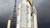 Ariane 5 with Herschel and Planck at launch pad