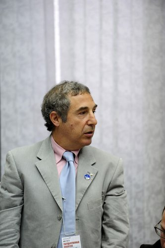 Bernardo Patti, ESA's ISS Manager, during the State Commission meeting to approve the Soyuz launch