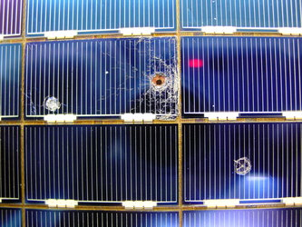 ESA built-solar cells retrieved from the Hubble Space Telescope in 2002