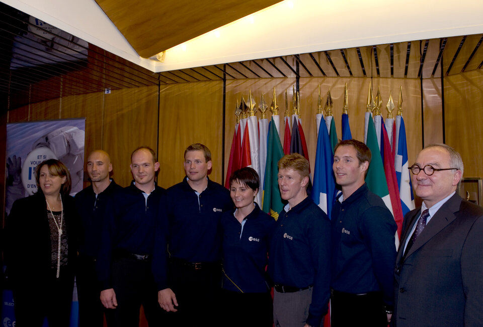 The new astronauts were selected following a Europe-wide recruitment process