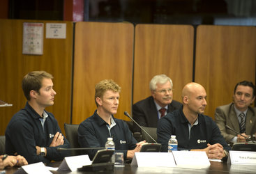Europe's new astronauts were presented at a press conference at ESA Headquarters