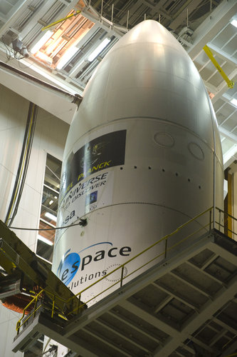 Fairing of the Ariane 5 enclosing Herschel and Planck