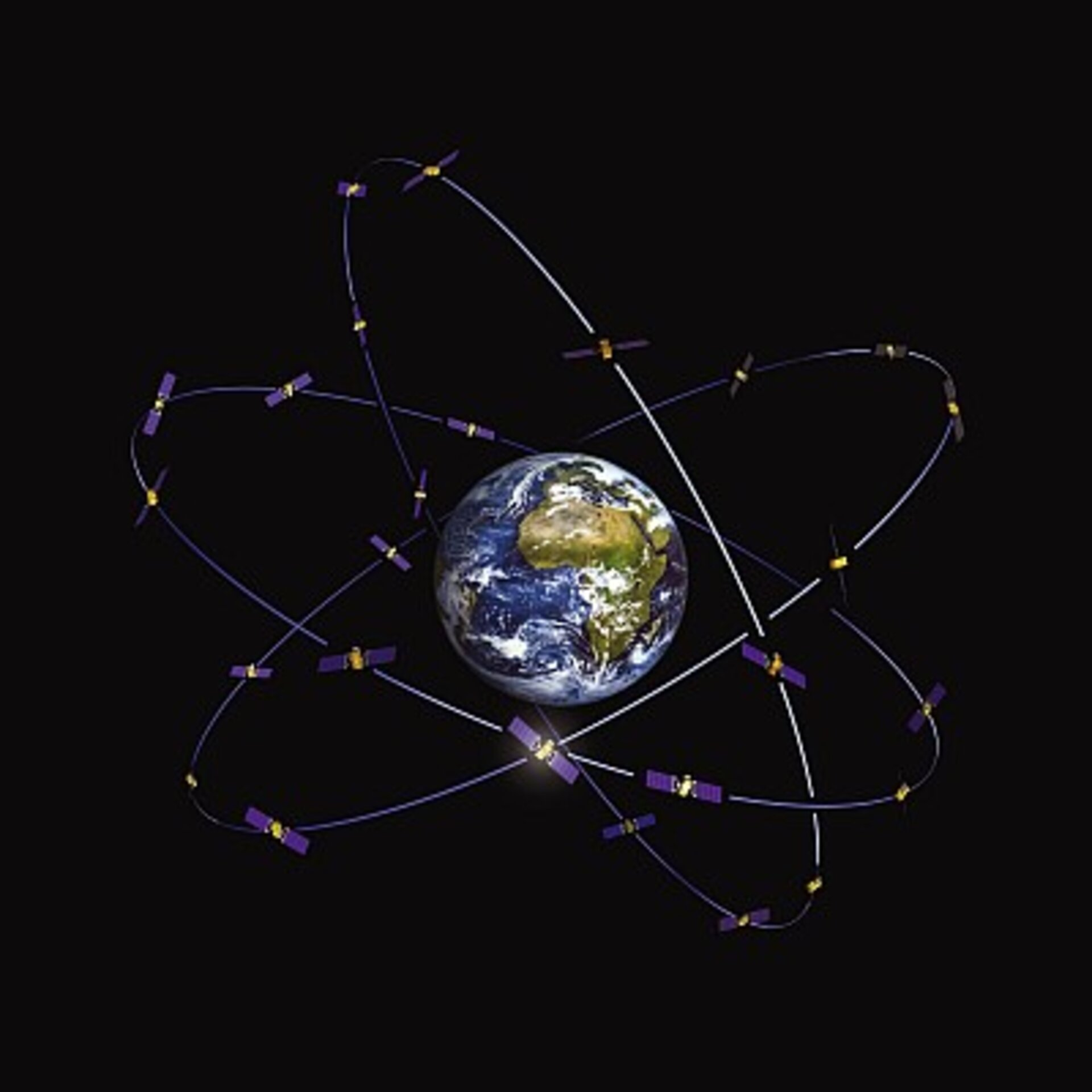 Galileo constellation of 30 satellites