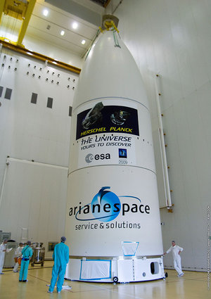 Herschel and Planck in Ariane 5 fairing