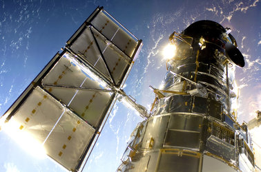 Hubble during Servicing Mission 4