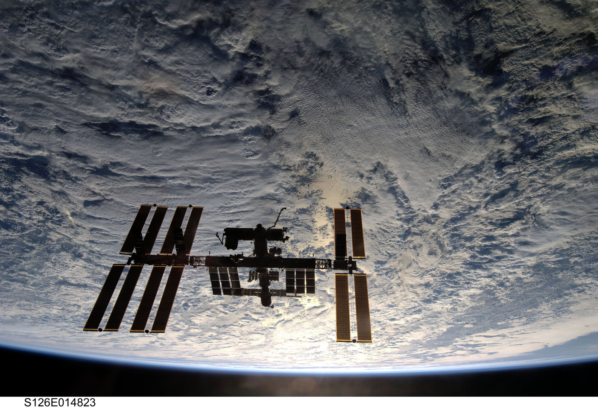 ISS viewed from Space Shuttle Endeavour