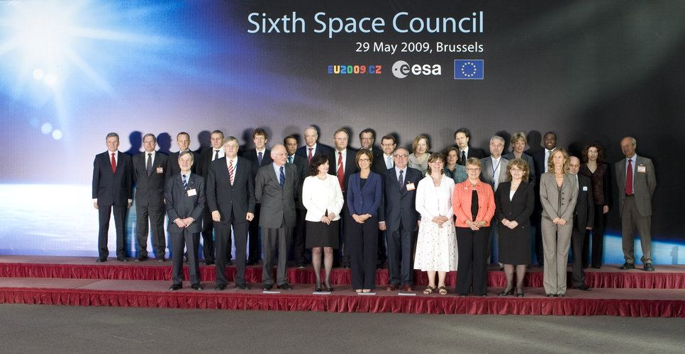 Ministers met in Brussels for the Sixth Space Council
