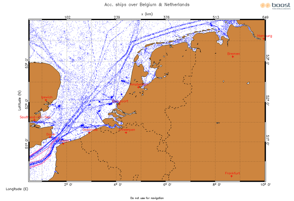 Ship distribution in European harbours