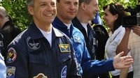 Soyuz TMA-15 crew leave the Cosmonaut Hotel
