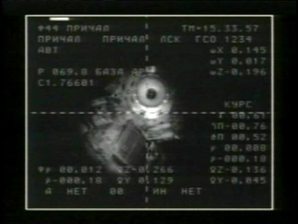 The ISS seen from the Soyuz TMA-15 spacecraft as it approached for docking