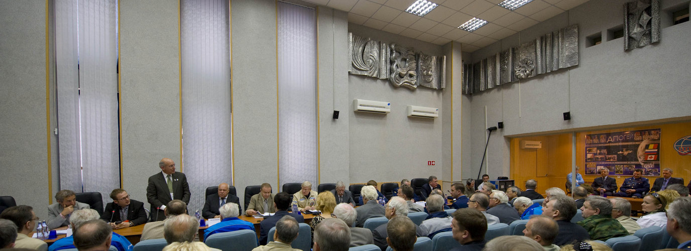 The State Commission meeting to approve the Soyuz launch
