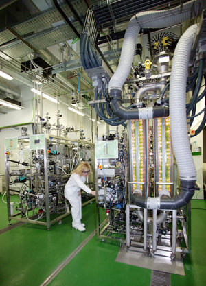 A view inside the MELiSSA pilot plant at the University Autònoma of Barcelona