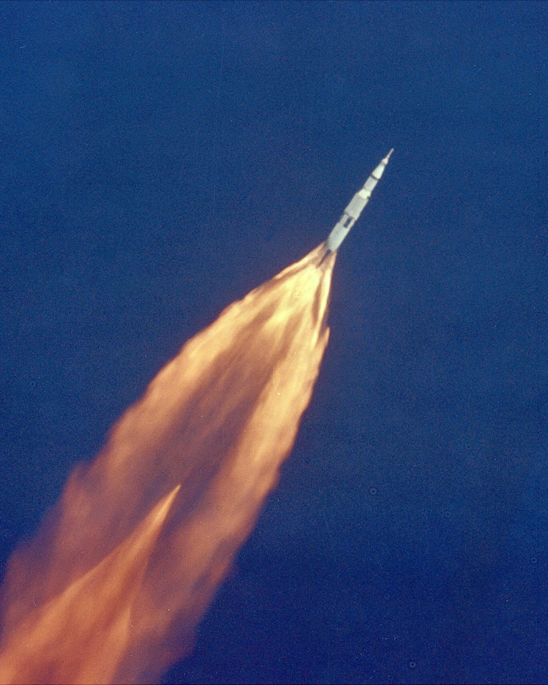 Apollo 11 Saturn V in flight