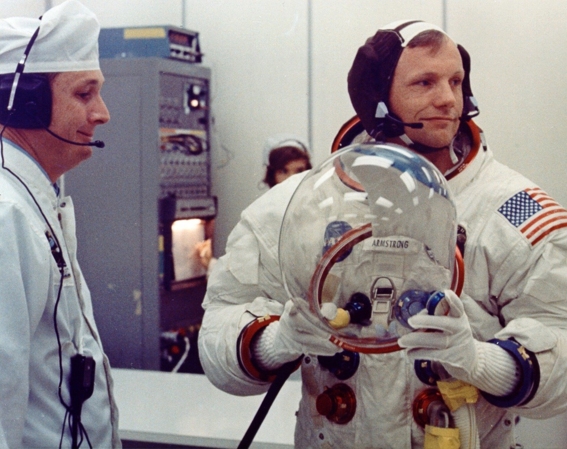 Armstrong suiting up