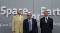 Breant, Courtois and Weissenberg visit Le Bourget