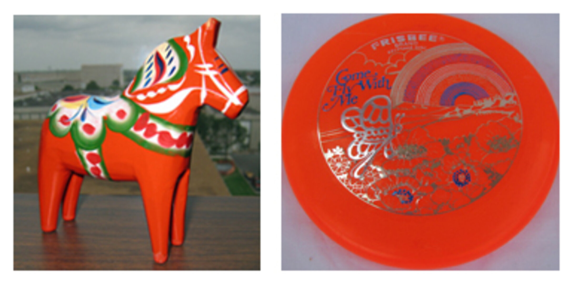 Other items include a Dalecarlia horse and a mini frisbee
