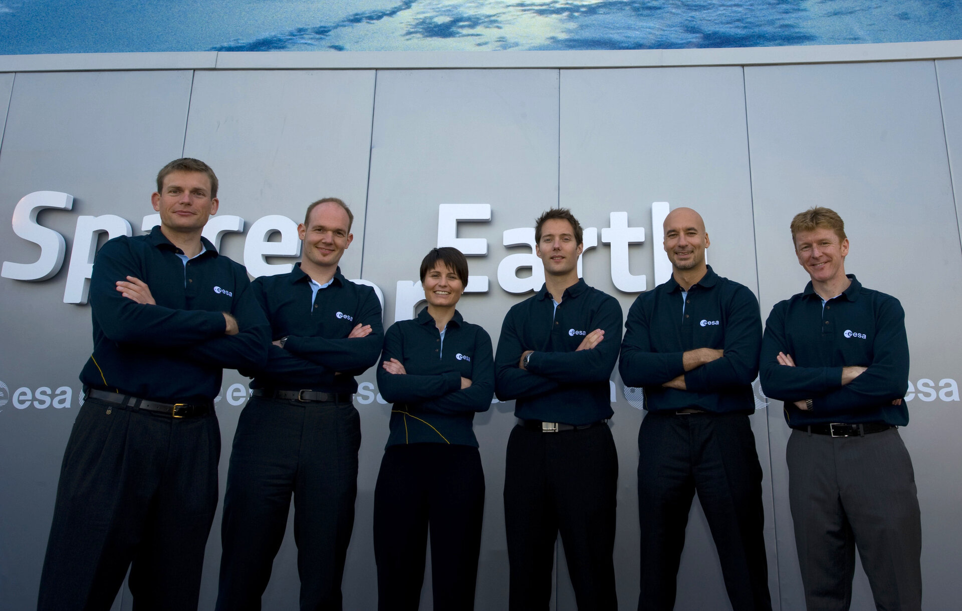 ESA astronauts at Le Bourget before the Human Spaceflight and Exploration in Europe conference