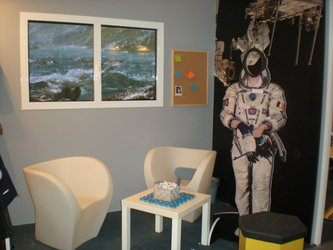 ESA's human spaceflight stand at the Ecsite 2009 Business Bistro