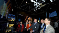European Space Parliamentary Committee visit the ESA Pavilion