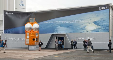 External view of the ESA Pavilion at the Paris Air Show