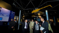 Fernando Doblas presents the ESA Pavilion to members of the Euro