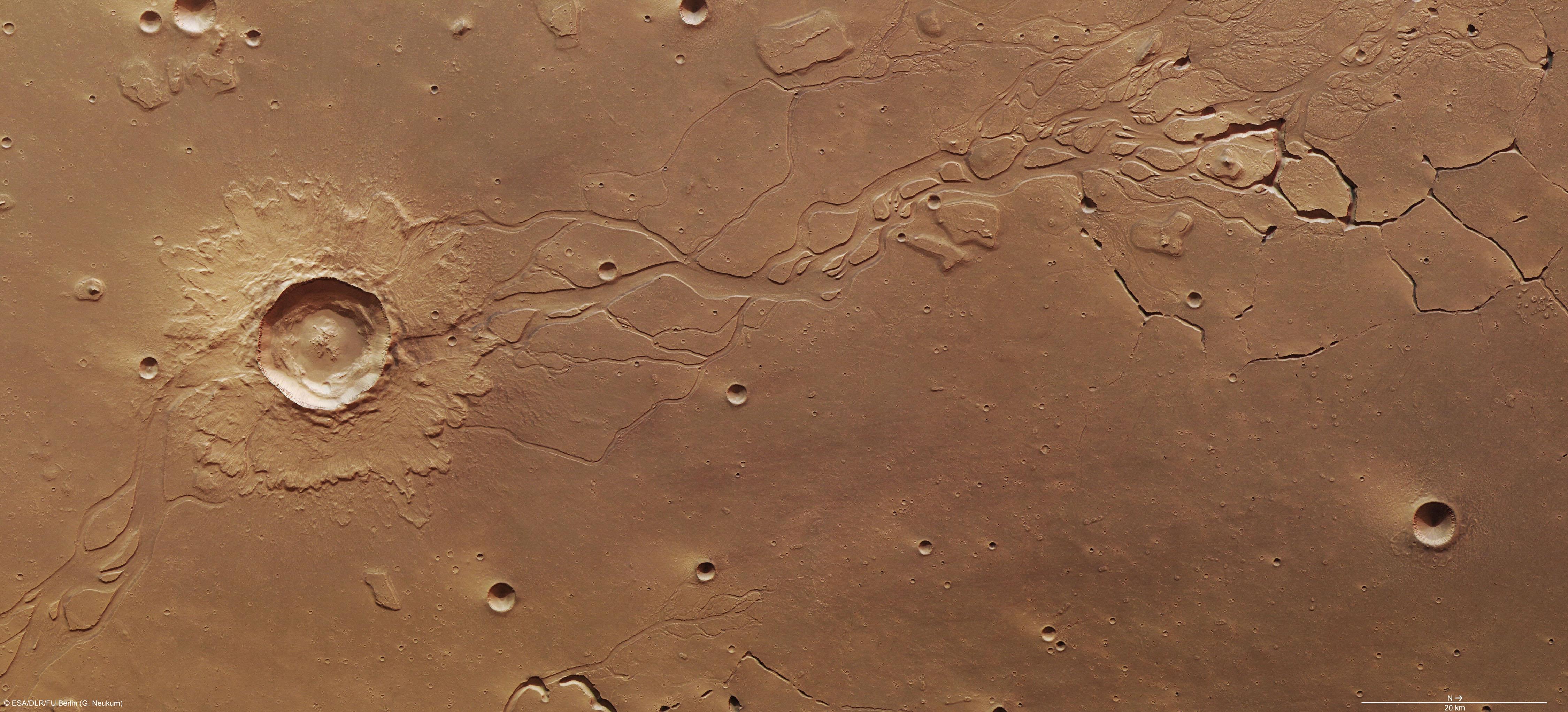 Cratère sur Mars