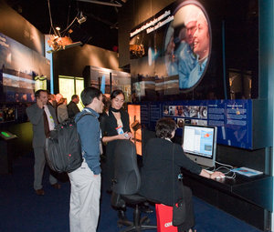 Interior view of the ESA Pavilion, technology area