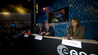 Dordain and Di Pippo during conference at Le Bourget