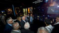 Members of the French Parliament visit ESA Pavilion